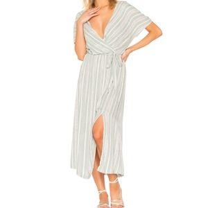 MINKPINK striped Pure Shores Midi Dress medium